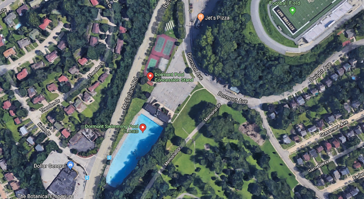 Dormont Pool from space